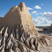 Eroded clay pinnacles, Walls of China