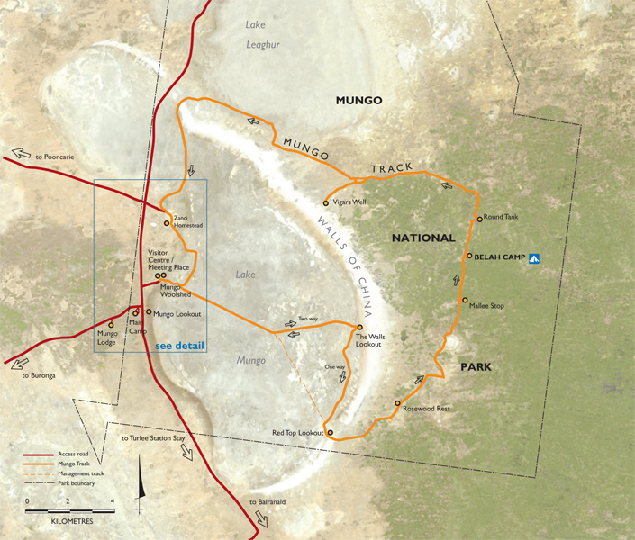 Map of Mungo National Park