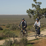 You can get on your bike for the Mungo Track. Photograph © Boris Havlica