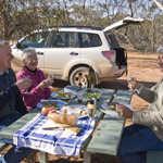 Enjoy a picnic lunch at the Mallee Stop. Photograph © Boris Havlica